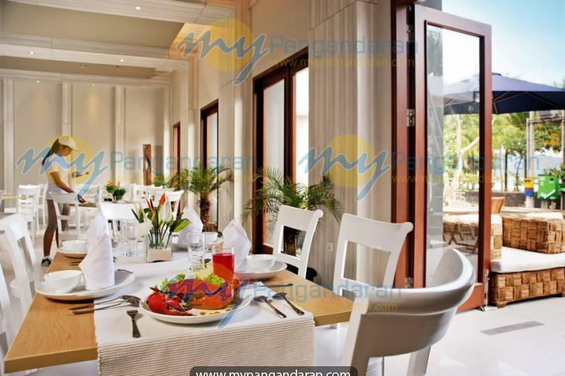 Tampilan resto Menara Laut Hotel Pangandaran